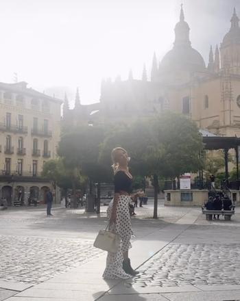 La actriz mexicana que enseña Segovia a 5,1 millones de fans