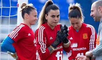 La canaria, en la concentración de la selección española en Marbella.