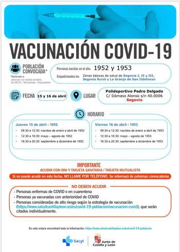 Nuevas convocatorias para la vacunación masiva