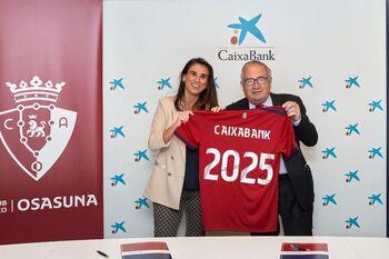 Osasuna y Caixabank renuevan su compromiso hasta 2025