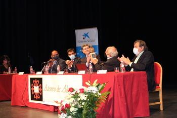 El Premio Nobel de Física, Michel Mayor, visita Almagro