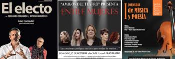 Teatro, música y poesía, este fin de semana en Manzanares