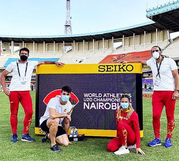 José San Pastor, tercero en la primera jornada en Nairobi