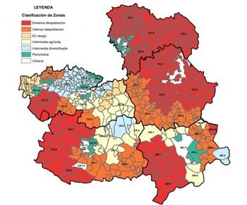 Así queda el mapa de la despoblación en Castilla-La Mancha