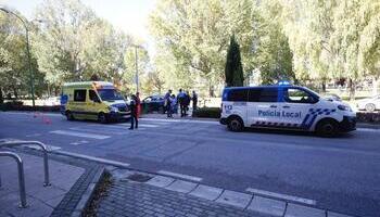 Atropellada en un paso de cebra de avenida Castilla y León