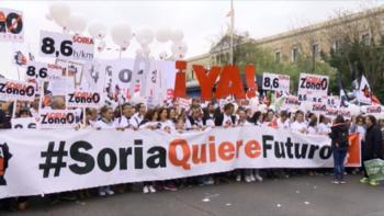 Soria ¡YA! pide apoyo en la manifestación del 29 de octubre