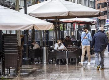 Imagen de la terraza de un establecimiento de hostelería en Logroño.