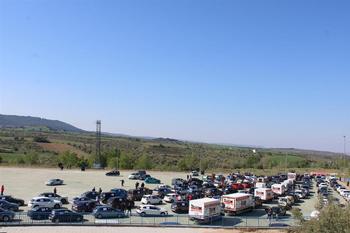 Una protesta de empresarios reúne 500 coches en Guadalajara