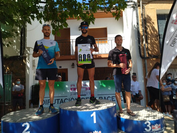 Jesús Muñoz  Verónica Martín ganan el Trail de Bienservida
