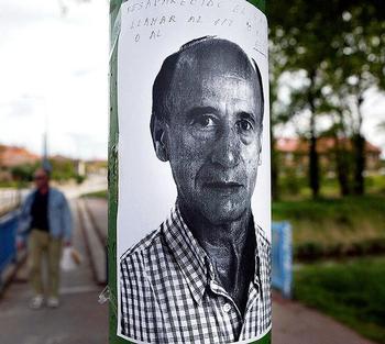 Imagen de un cartel de Guillermo Cancho, desaparecido en 2006.