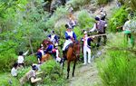 OTERO DE GUARDO: En plena época de dominio napoleónico en la Península Ibérica, los bandoleros saquean a las tropas francesas en la Serranía de Otero. En la imagen se recrea uno de esos asaltos.
