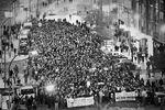 Primera manifestación contra el bulevar de Gamonal