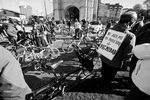 Marcha en bicicleta contra el bulevar de Gamonal