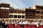 Peñafiel (Valladolid) celebra un año más la tradicional Bajada del Ángel