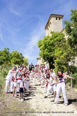 No hace falta estar en las calles pamplonicas para festejar a San Fermín por todo lo alto y con tradicionales encierros, como este 'ecológico' de Palacios del Alcor. FOTO: Víctor Iván Serna González