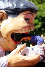La Tía Melitona durante las Ferias y Fiestas de Valladolid