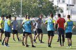 Calurosa jornada de entreno en el Pinatar Arena