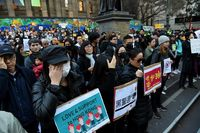 Protest in solidarity with Hong Kong