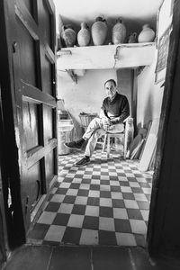 Ignacio Sanz, escritor, narrador oral, ceramista.