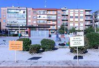 Un mural para recuperar el centro de especialidades Delicias