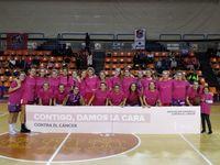 CB Babieca, de rosa contra el cáncer de mama, en su encuentro ante Agustinos León