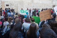 El colectivo estudiantil 'Juventud por el clima' se reivindica frente al cambio climático