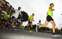Carrera del Quijote martón, gente corriendo la maraton de ciudad real, maratón Quijote, aatletismo,Maratón
