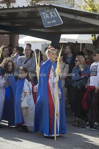 Un momento de la Procesión de Las Palmas