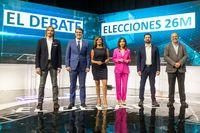 Primer debate electoral de campaña entre candidatos a la Presidencia de la Junta