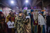 cabalgata de los reyes magos en ciudad real, navidad