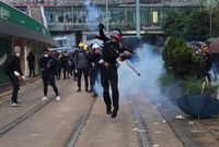 Anti-government protests during China's National Day in Hong Kong