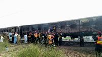 Dozens killed in fire incident in a passenger train
