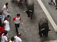Los toros de José Escolar protagonizan el tercer encierro de los sanfermines 2019