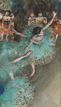 Pastel de Edgar Degas.