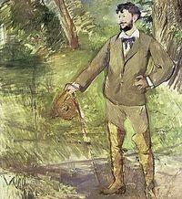 Pintura de Carolus-Duran, de Manet.