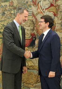 Audiencia del rey Felipe VI al presidente de la Junta de Castilla y León,
