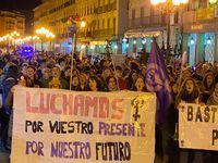 Manifestación en el Día Internacional por la Eliminación de la Violencia de Género