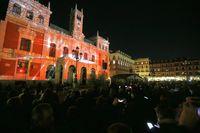 Espectáculo de video mapping en la Plaza Mayor