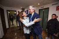 Fiesta en la sede del PP con Rosa Romero, Francisco Cañizares y Calleja, al ganar en las elecciones generales,