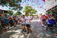 en Nexter llegada del corredor de fondo Cesar Sánchez y su reto ELA 48 horas non stop al Ela