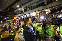 Santiago Abascal en un mitin de VOX en Ciudad Real, elecciones generales, Abascal en el Quijano