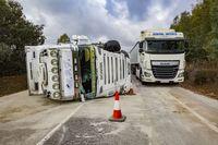 accidente mortal en la N 430 en Luciana con un fallecido, choque entre un camión y un coche en luciana, accidente de tráfico con un fallecido en la n430, N 430