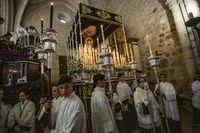 Suspendida la procesión de la Soledad de San Pedro por la lluvia, semana santa