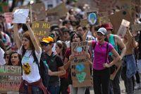 Marcha contra el cambio climático en Ciudad de México