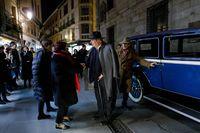 Recreación de la llegada de Antonio Machado a Segovia 100 años después