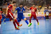 Partido de futbol sakla entre el FS Viña Albali Valdepeñas y el Pozo Murcia