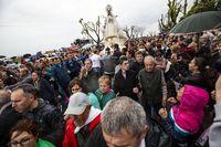 llegada de la Virgen de la Encarnación de carrión de Calatrava a la Ermita de de San Antón, fiestas de Carrión de Calatgrava, virgeen de la Encarnación en romerÁa