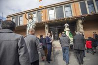 Encuentro de la virgen con el resucitado y procesión.