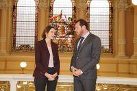 Visita de la ministra de Industria y Turismo, Reyes Maroto, a Valladolid.