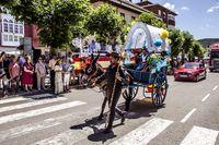 Cervera, Saldaña, Guardo y Aguilar honran a San Cristóbal